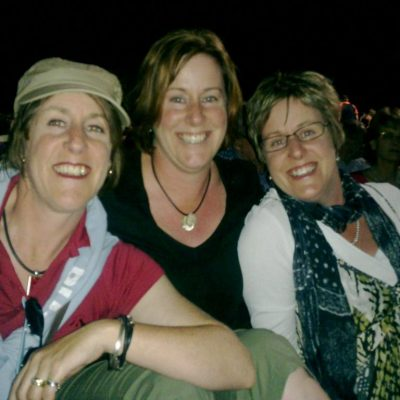 My triplet sisters and I at a festival